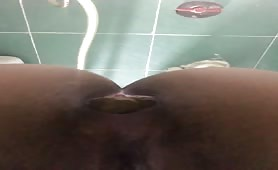 Huge turd from her tight Indian ass