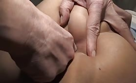 Delicious Asian smears shit on her ass