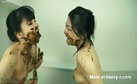 Japanese lesbian girls masturbating