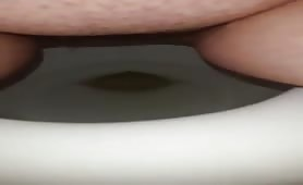 Sexy babe can shit in toilet