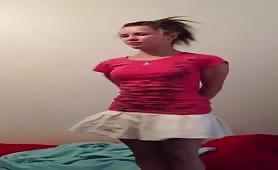 She's desperate to poop in panties
